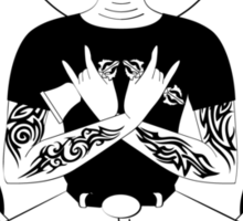 Punk Rock Buddha - Full body Sticker