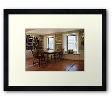 Lothrop Room, Sturgis Library Framed Print