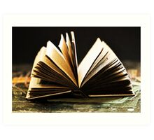 Open Book -Pages- Art Print