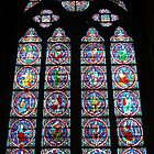 Notre Dame de Paris Stained Glass Window by Pierre Frigon