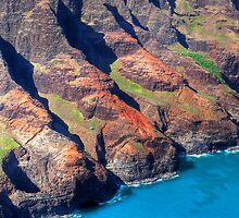 Craggy Cliffs of the Napali Coast (Kauai, Hawaii) by Brendon Perkins