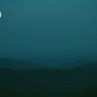 A Blue Ridge Moonrise by James Hoffman
