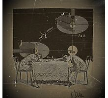 TWO BOYS TRY TO COMPREHEND THE INJUSTICE DONE TO GALILEO Photographic Print