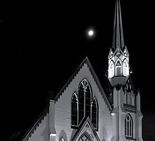 First Presbyterian Church  •  MoonStruck  •  Napa, California by Richard  Leon