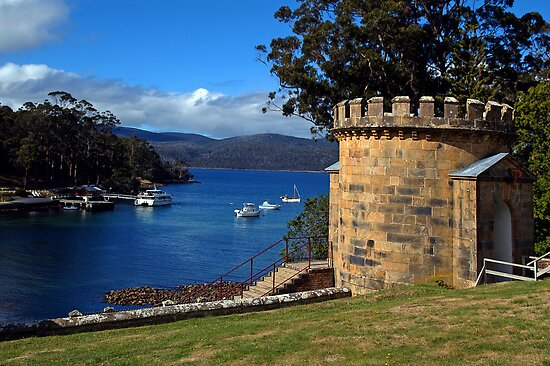 The Guard Tower (1842). Historic Port Arthur, Tasmania, Australia. by Ralph de Zilva