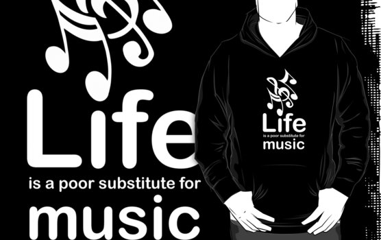 Music v Life - White Graphic by Ron Marton