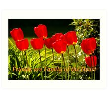 family of the heart tulips Art Print