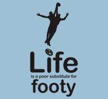 AFL v Life - Black Graphic Kids Clothes