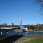 Potrait of Sundial Bridge, Redding, CA by JaneMerson