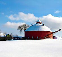 Round Red Barn by marchello