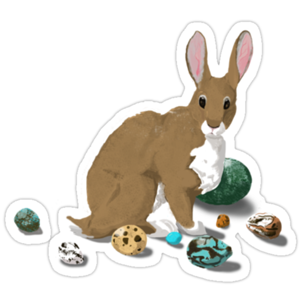 Easter Bunny With Eggs by Muninn