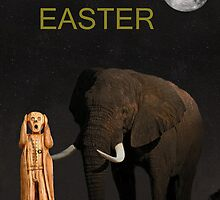The Scream World Tour African Elephant Happy Easter by Eric Kempson