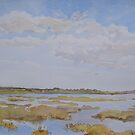 Essex salt marshes by Peter Lusby Taylor