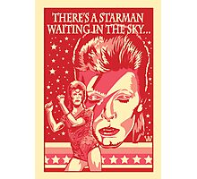 Red Bowie From Mars Photographic Print