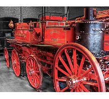 Antique Fire Engine Photographic Print