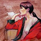 Portrait of Jenny in the Red Kimono by Roz McQuillan