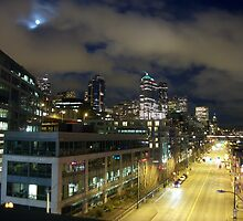 Skyline from Above 1st Avenue, Seattle by Gary Rea