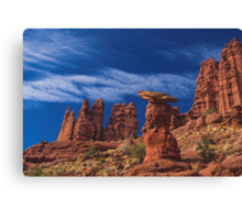 Red, Blue and White Canvas Print