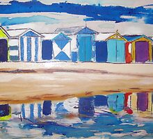 Brighton Beach Huts /Bathing Boxes by gillsart