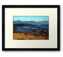 The Tasman Bridge. Hobart, Tasmania, Australia. Framed Print