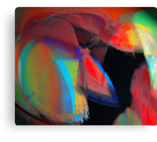 the red necktie under a chalk covered multi colored suit or love rained down.. take your pick Canvas Print