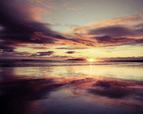 sunset on Keel strand Achill Island, Ireland by Ciaran  Duignan