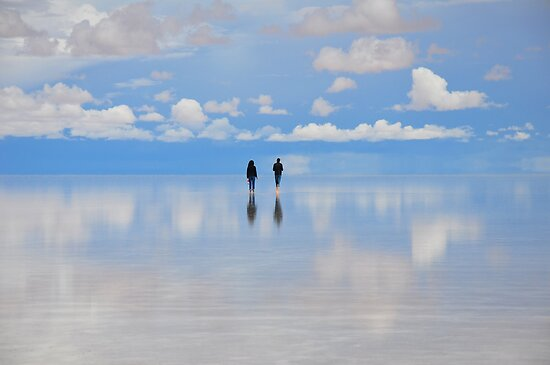 Salar de Uyuni, flooded, Bolivia by Stephen Tapply