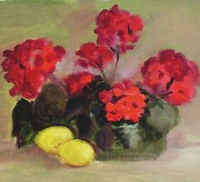 Geraniums by AJ  Devlin