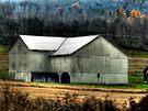 Pennsylvania White Barn  by Marcia Rubin