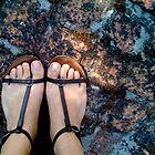 Gladiator sandals on the bricks by fourthangel