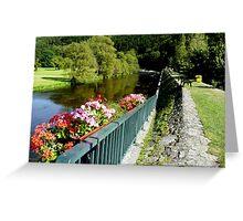 Walk along the river Greeting Card