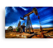 BLACK GOLD Canvas Print