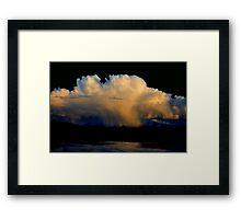 CLOUD BURST SUNSET Framed Print