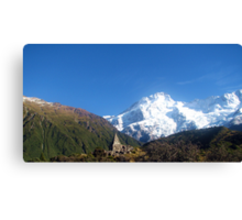 Memorial on Mt Cook Canvas Print