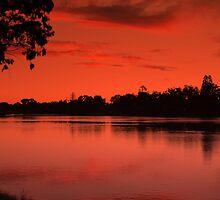 Lake Weeroona, Evening Still. by Lozzar Landscape