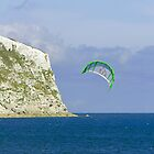 Kite-surfer at Yaverland by Rod Johnson