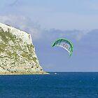 Kite-surfer at Yaverland by Rod Johnson