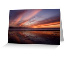 Sunset Trio 3 Woolacombe Bay Greeting Card