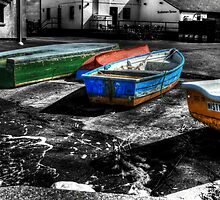 Row boats at Mudeford by Chris Day