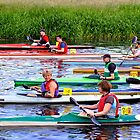 Burton Canoe Race, The Start by Rod Johnson