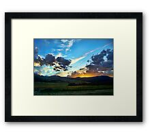 Sunset on the Rez (Montana, USA) Framed Print