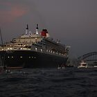 Sydney welcomes Queen Mary2 by Neville Gafen