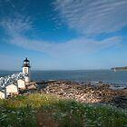 Walkway to Lighthouse by Joe Jennelle