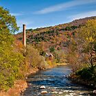 Smokestack on River by Joe Jennelle