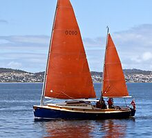 Tasmania Wooden Boat festival - Red Sails #2 by Odille Esmonde-Morgan