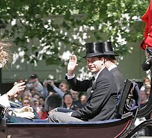 Prince Edward in a carriage by Keith Larby