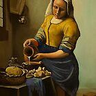 vermeer's milkmaid by carss66