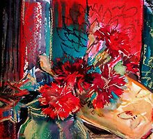Red Carnations  by Rebecca Yoxall