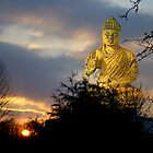 Buddha Sunset by Gilberte