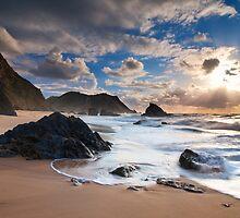 Stormy Adraga by Michael Breitung